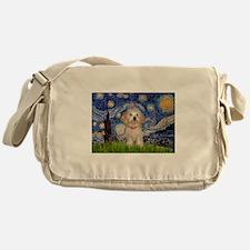 Starry Night Havanese Pup Messenger Bag