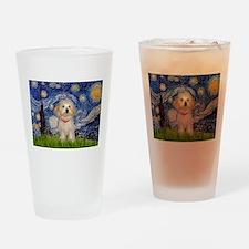 Starry Night Havanese Pup Drinking Glass