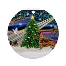 XmasMagic/Irish Setter Ornament (Round)