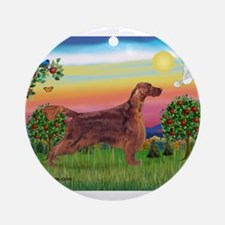 Irish Setter in Bright Countr Ornament (Round)