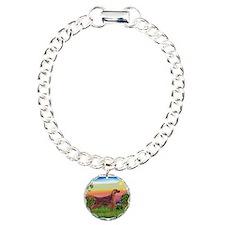 Irish Setter in Bright Countr Charm Bracelet, One