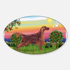 Irish Setter in Bright Countr Decal