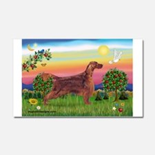 Irish Setter in Bright Countr Car Magnet 20 x 12