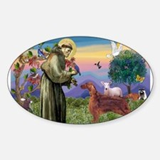 St. Francis & Irish Setter Decal