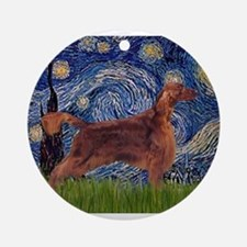 Starry Night Irish Setter Ornament (Round)