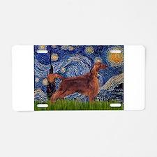 Starry Night Irish Setter Aluminum License Plate