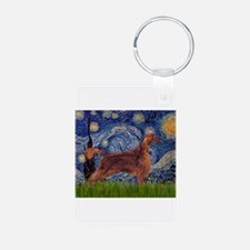 Starry Night Irish Setter Keychains