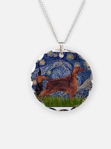 Starry Night Irish Setter Necklace