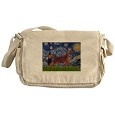 Starry Night Irish Setter Messenger Bag