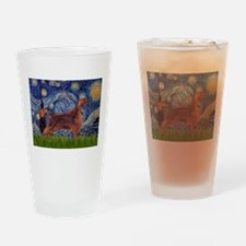 Starry Night Irish Setter Drinking Glass