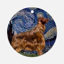 Starry Night Irish Setter #3 Ornament (Round)