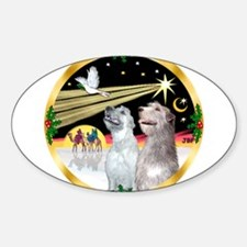 XmasDove/Irish Wolfhound pair Decal