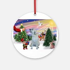 Treat for Santa's Irish Wolfh Ornament (Round)