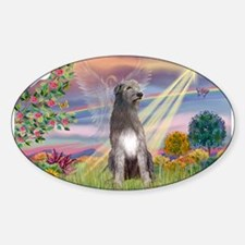 Cloud Angel & Irish Wolfhound Decal
