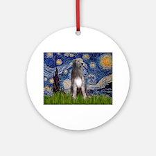 Starry/Irish Wolfhound Ornament (Round)