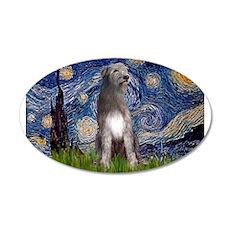 Starry/Irish Wolfhound 22x14 Oval Wall Peel
