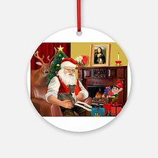 Santa's Ital.Greyt (6) Ornament (Round)