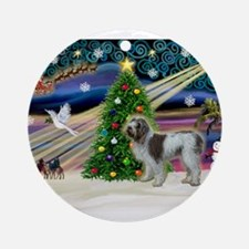 Xmas Magic & Spinone Ornament (Round)
