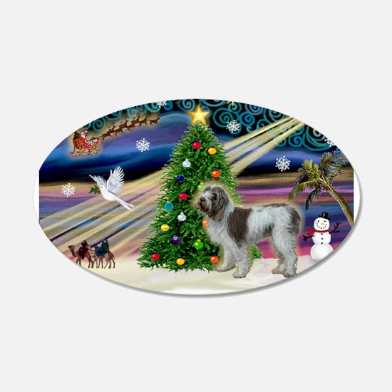 Xmas Magic & Spinone 22x14 Oval Wall Peel