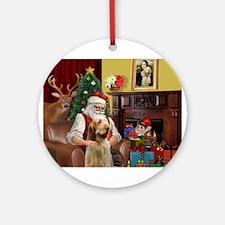 Santa/Spinone 4 Ornament (Round)
