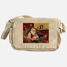 Santa's Jack Russell Messenger Bag