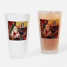 Santa's Jack Russell Drinking Glass