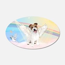 Angel / Jack Russell Terrier 22x14 Oval Wall Peel