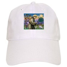 St. Francis & Jack Russell Terrier Baseball Cap