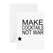 Make Cocktails Not War Greeting Cards (Pk of 10)