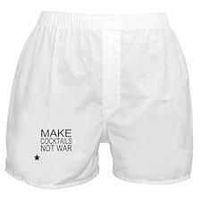 Make Cocktails Not War Boxer Shorts