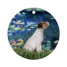 Jack Russell & Lilies Ornament (Round)