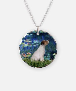 Jack Russell & Lilies Necklace