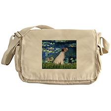 Jack Russell & Lilies Messenger Bag