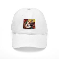 Santa's 2 Japanese Chins Baseball Cap