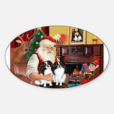 Santa's 2 Japanese Chins Decal