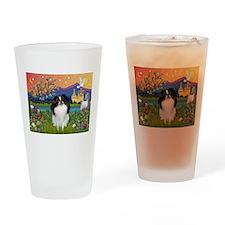 Fantasyland & Japanese Chin Drinking Glass