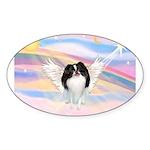 Japanese Chin Angel Sticker (Oval 50 pk)