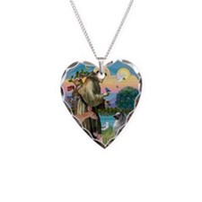 St Francis/Keeshond Necklace