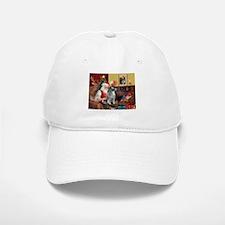 Santa/Keeshond Baseball Baseball Cap