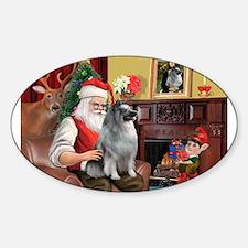 Santa/Keeshond Decal
