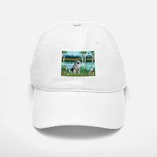Birches/Keeshond Baseball Baseball Cap