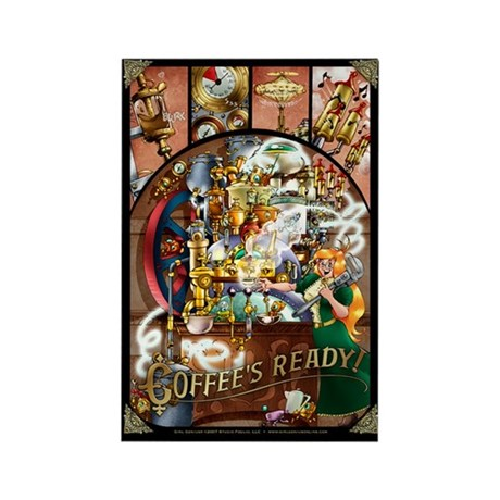 Coffee Engine Rectangle Magnet (100 pack)