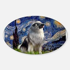 Starry Night Keeshond Decal