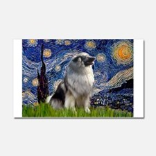Starry Night Keeshond Car Magnet 20 x 12