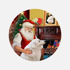 """Santa's Kuvasz 3.5"""" Button"""