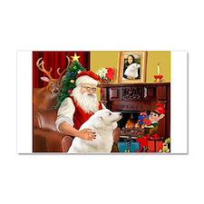 Santa's Kuvasz Car Magnet 20 x 12