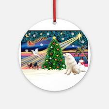 Xmas Magic & Kuvasz Ornament (Round)