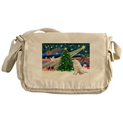 Xmas Magic & Kuvasz Messenger Bag