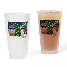 Xmas Magic & Kuvasz Drinking Glass