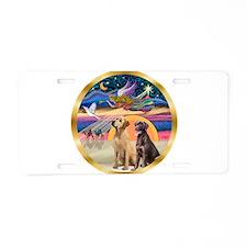 XmasStar/ 2 Labs Aluminum License Plate